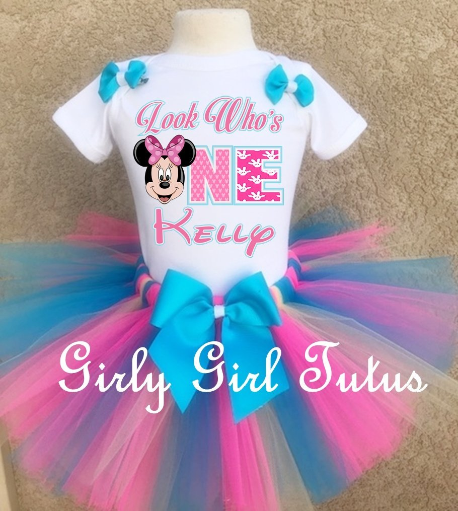 16e9f53bcc5 Personalized Minnie Mouse 1st birthday Tutu Outfit Set