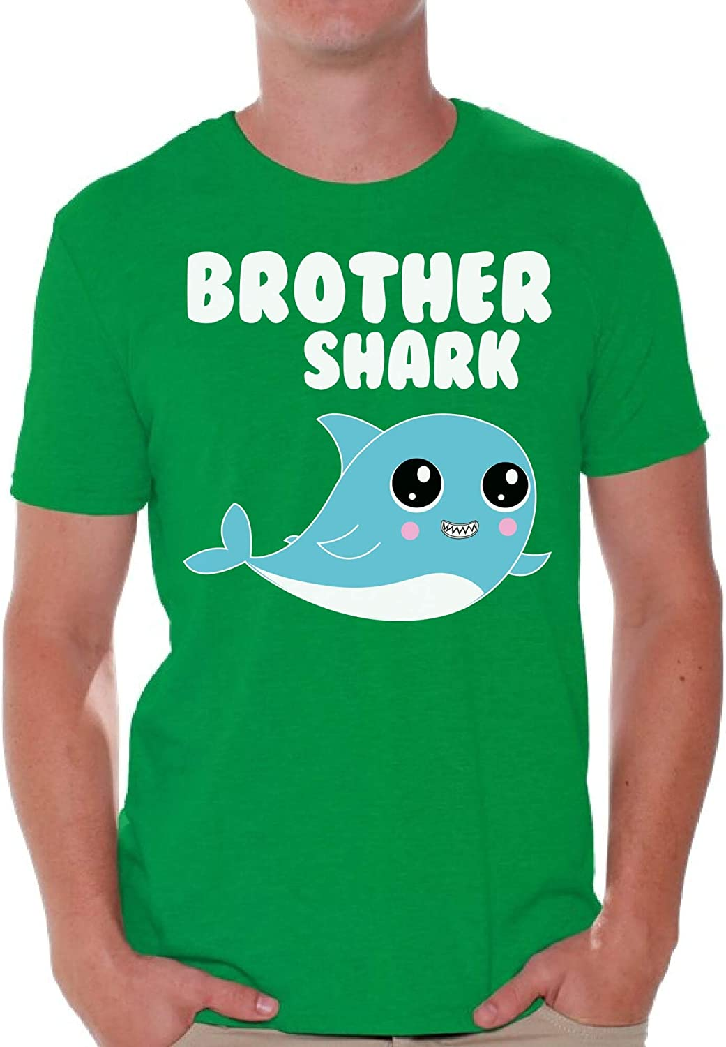 Awkward Styles Brother Shark T-Shirt for Men Funny Family Vacation Shark Family T Shirts