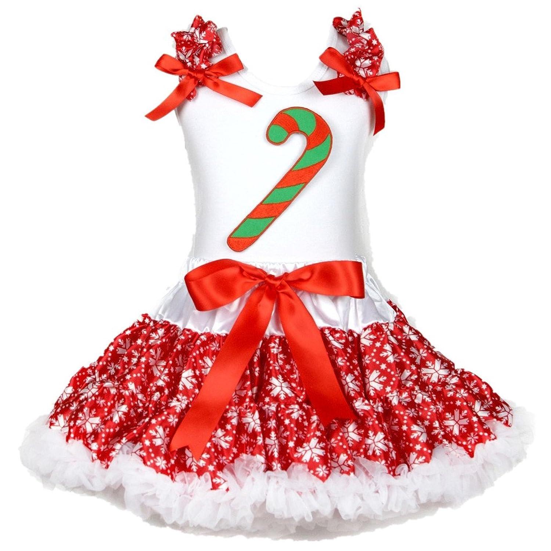 Petitebella Bling Birthday 5th White L//s Shirt Brown Orange Petal Skirt Nb-8y