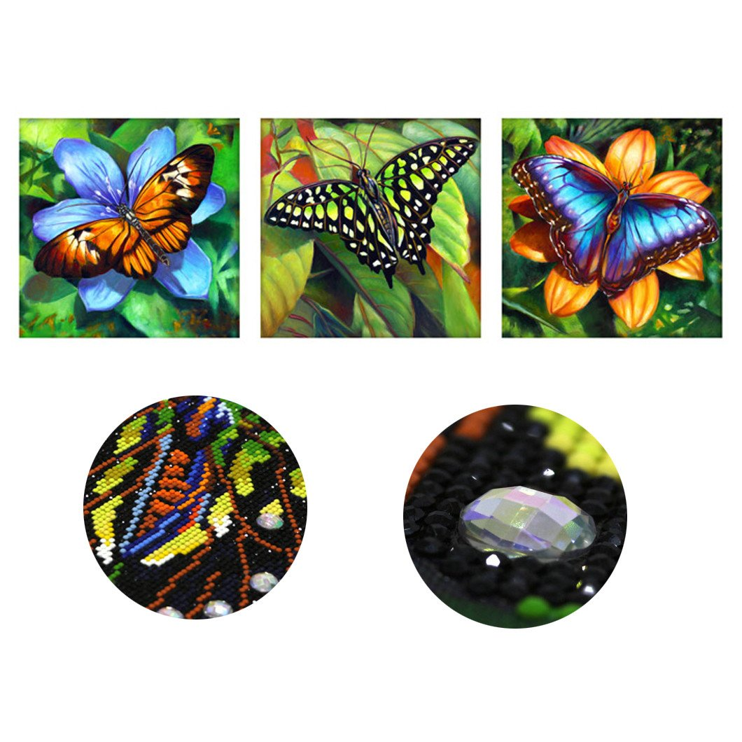Mazixun 2018 Special Shaped Diamond Painting Butterfly 3D Pictures Rhinestones Embroidery Speciaal Vormig Diamant Schilderen Triple Pasting 143x50cm