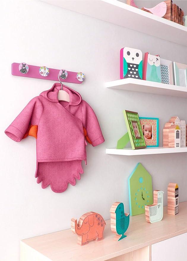 pour enfants Lashuma Porte-manteau mural pour enfant 41 x 6 cm en plastique filles et gar/çons