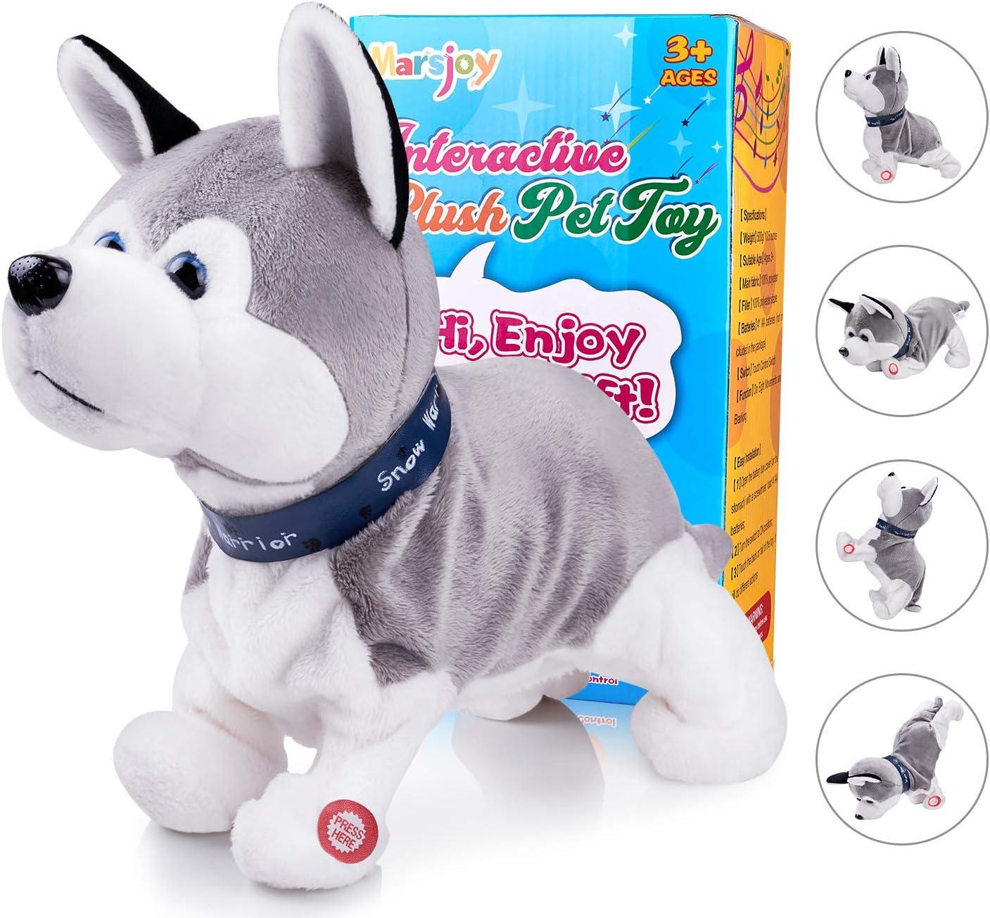 Interactive Pets Stuffed Animals Home-X Plush Dalmatian Pup Electric Dog Toys