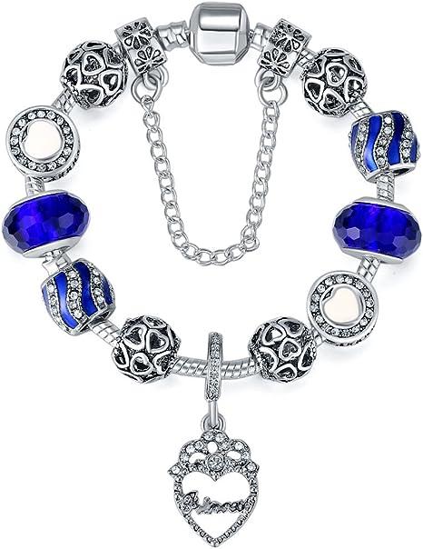 braccialetti donna pandora blu