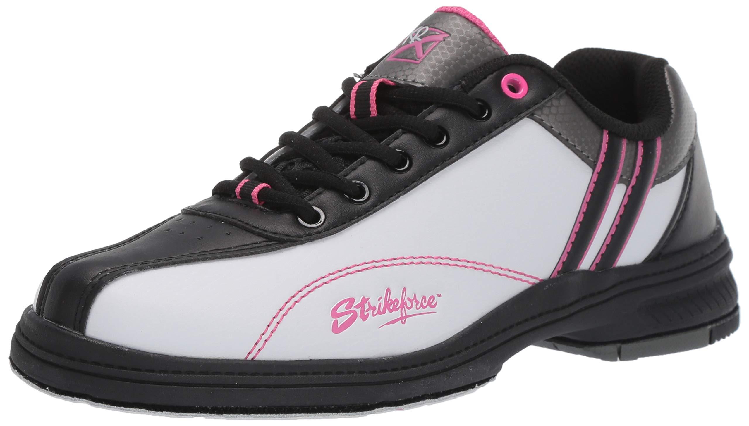 KR Strikeforce L-901-085 Starr Bowling Shoes, White/Black/Pink, Size 8.5