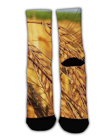 a67a17c84f5c Amazon.com: MrDecor Unisex Crazy Fun Cool Fall Wheat Harvest Print ...
