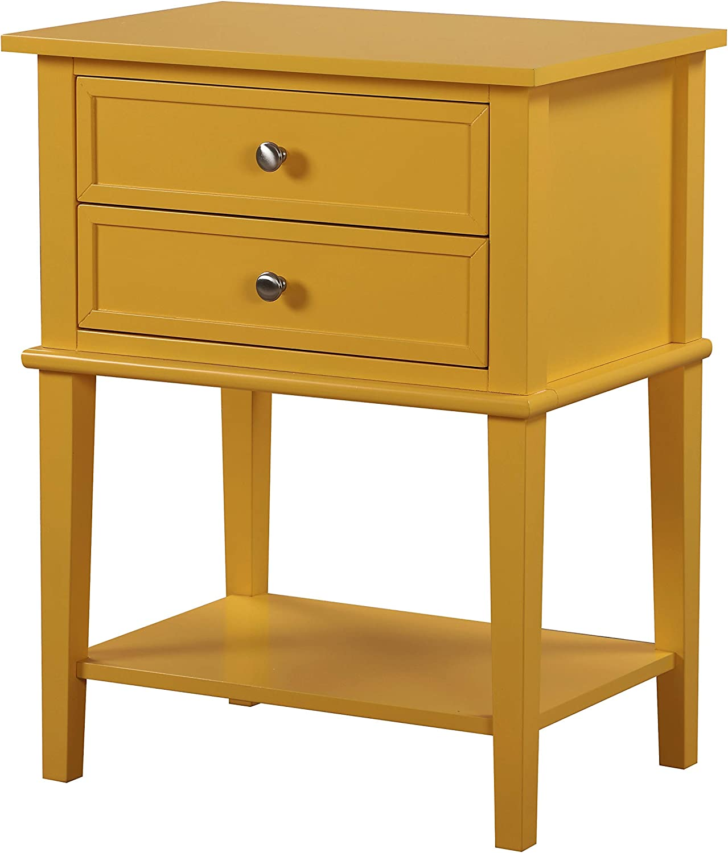 Glory Furniture Newton Nightstand, Standard, Yellow