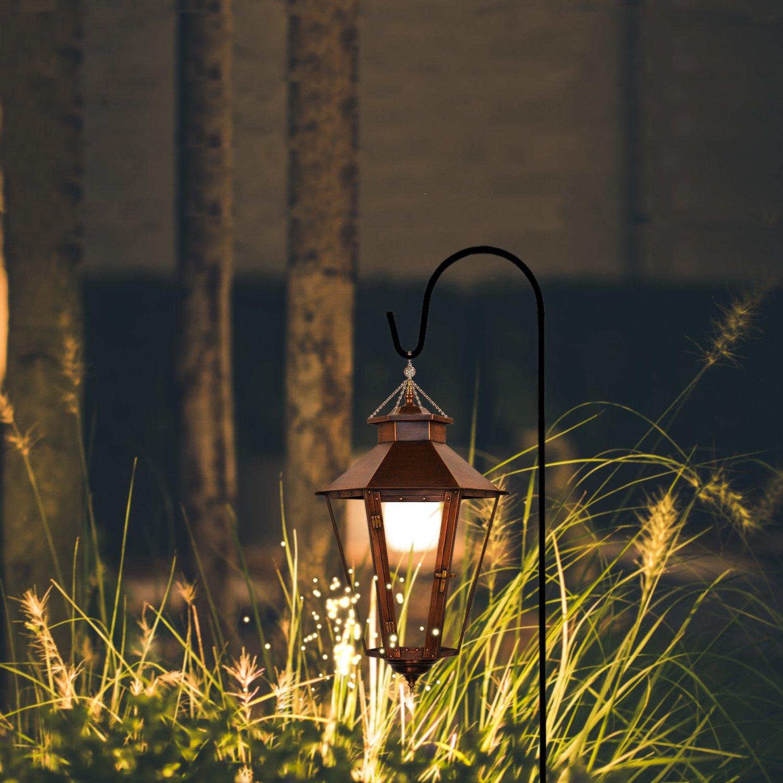 Mason Jars Garden Stakes and Weddings Ashman Shepherds Hooks Christmas Lights Flower Basket Lanterns Black Plant Hangers Bird Feeders Set of 4 made of Premium Metal for Hanging Solar Lights