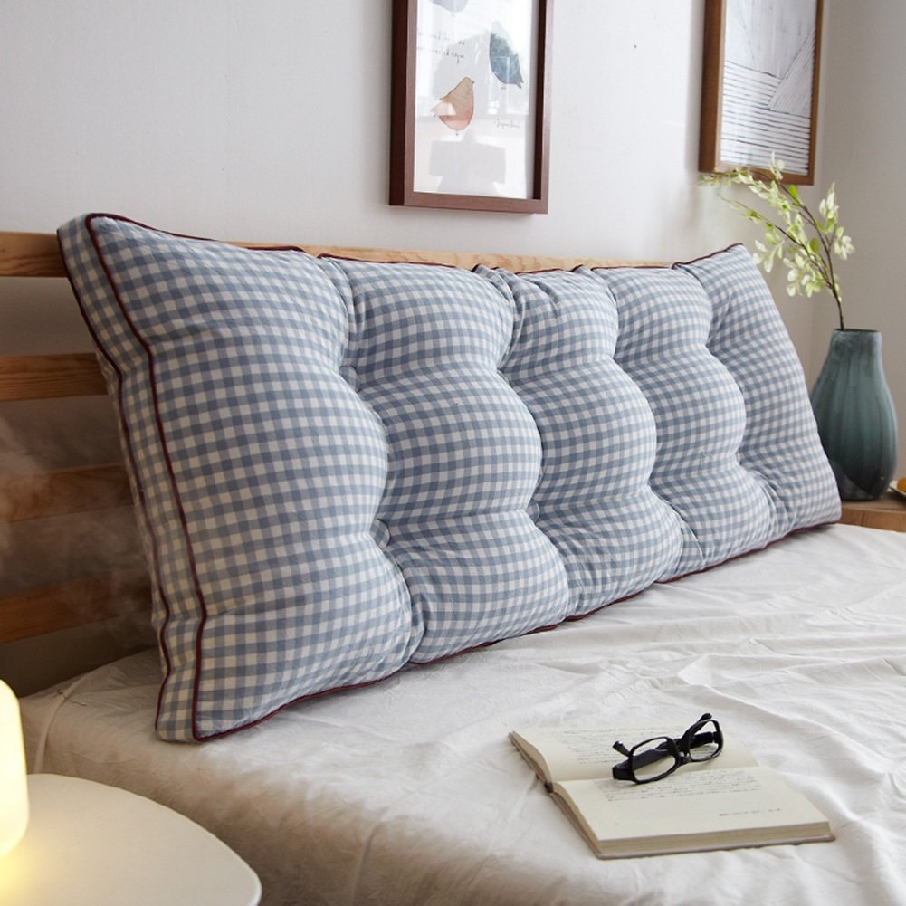 3 150×20×50cm RFJJAL Double Bedside Triangle Cushion Pillow Sofa Backrest Soft Case Bedroom Large Back Cushion Predect The Waist Removable,7 colors, 8 Sizes (color   7, Size   180×20×50cm)