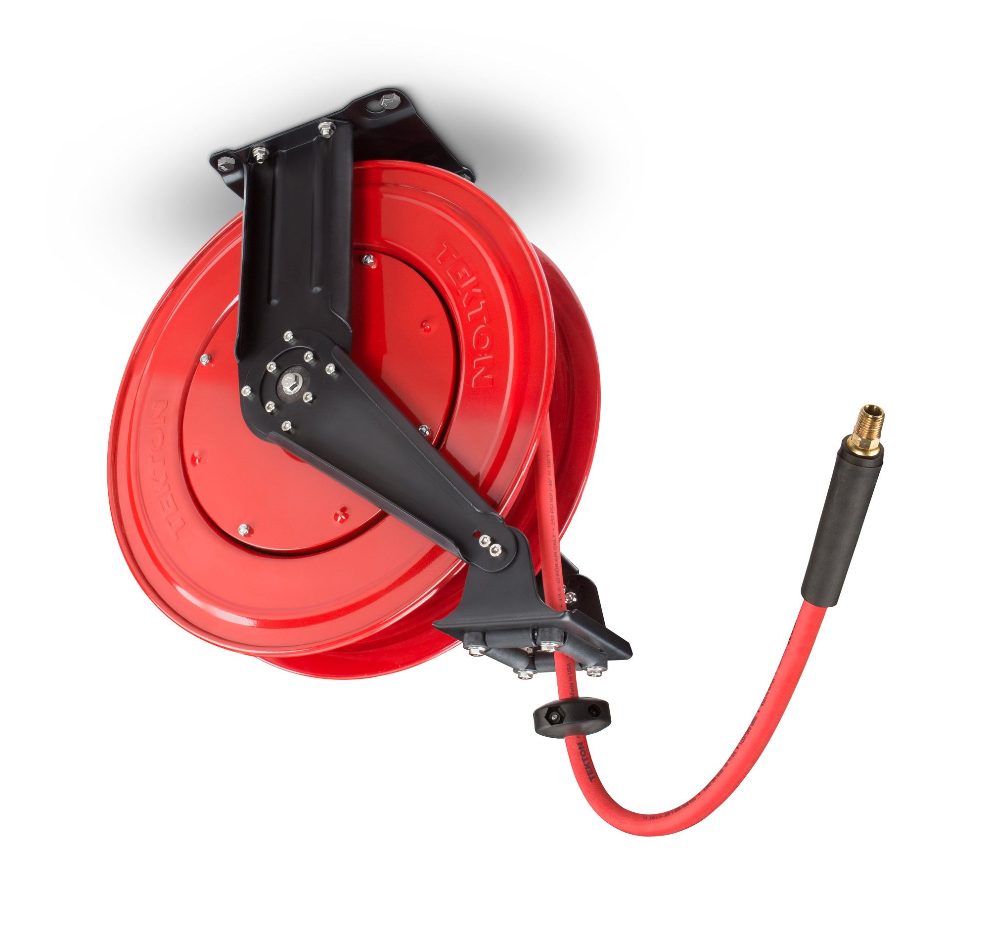 TEKTON 50-Foot by 3/8-Inch I.D. Dual Arm Auto Rewind Air Hose Reel (250 PSI) | 46875
