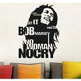 Sticker Studio Bob Marley Wall Sticker (PVC Vinyl, Size - 58 X 43 cm)