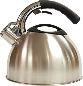 Creative Home Ellipse 2.8 Qt Stainless Steel Whistling Tea Kettle