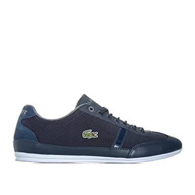 2a9646ccda1419 Lacoste Mens Mens Misano Sport 417 1 JD CAM Trainers in Navy Grey - UK 9
