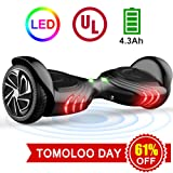"Amazon Price History for:TOMOLOO Hoverboard with LED Light Two-wheel Self Balancing Scooter with UL2272 Certified, 6.5"" Wheel Electric Scooter for Kids and Adult"