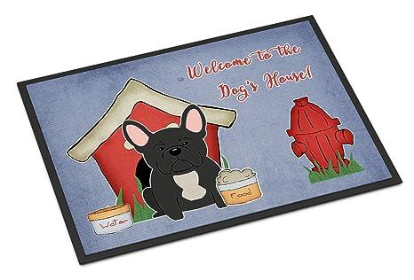 Caroline tesoros del bb2768mat perro casa colección francés Bulldog negro interior o al aire libre alfombrilla
