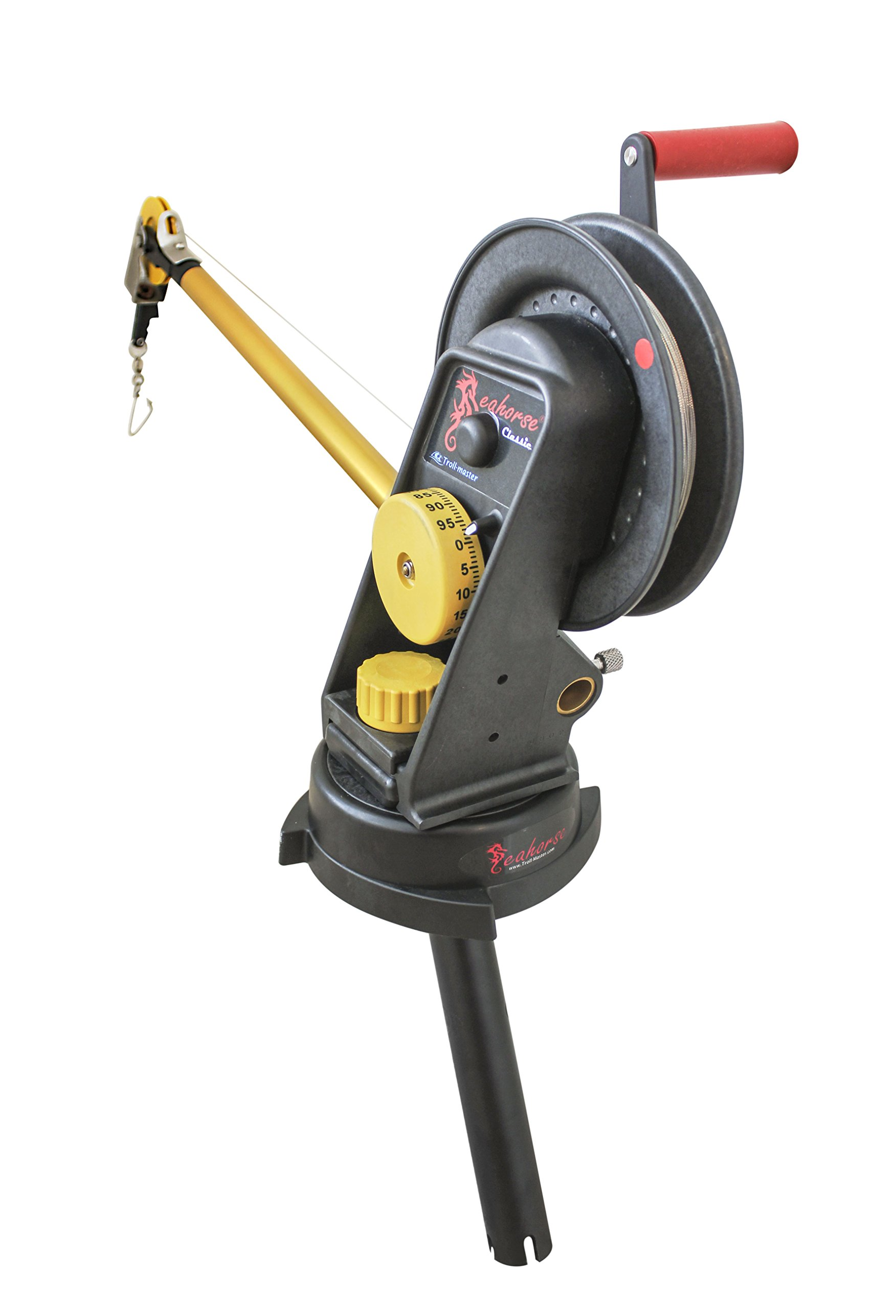 Seahorse Manual Downrigger with Swivel Base and Gimbal Mount By Troll-master by Seahorse