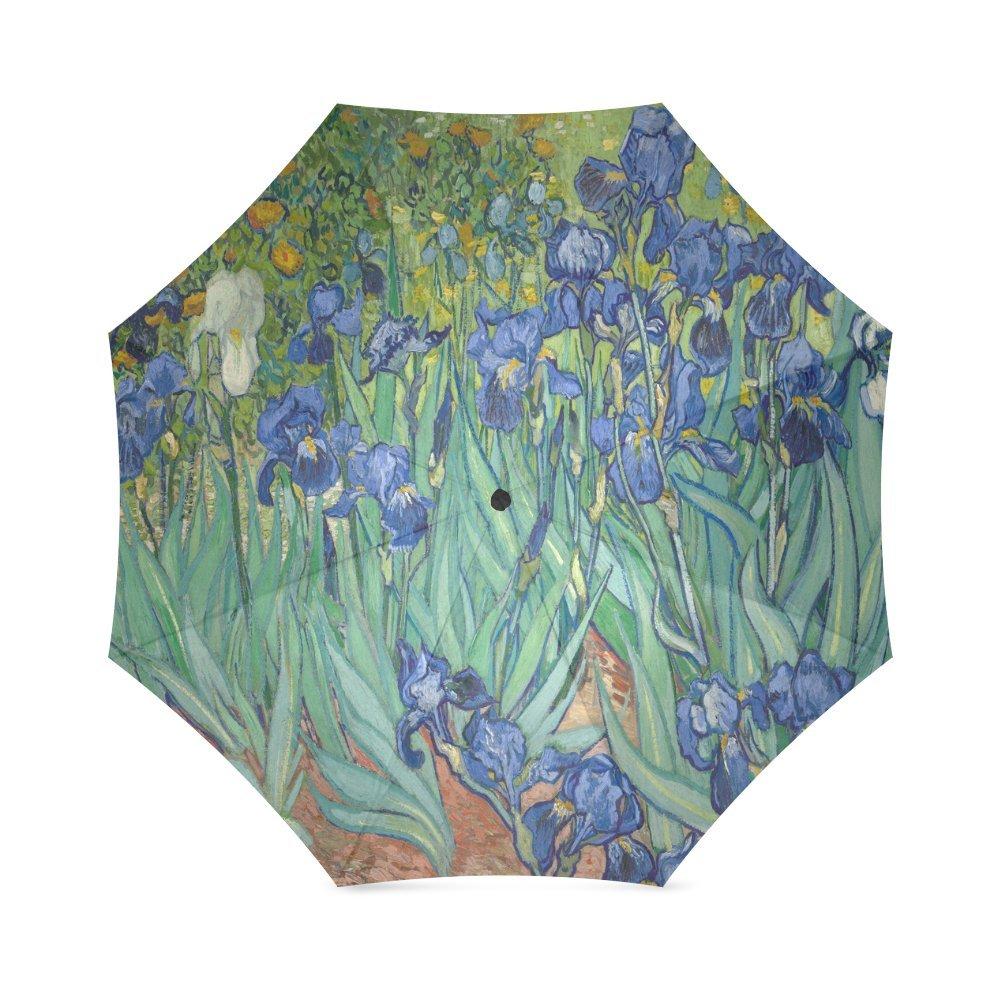 Irises Vincent Van Gogh Folding Windproof outdoor Travel Umbrella for Women   B073R8WWSL