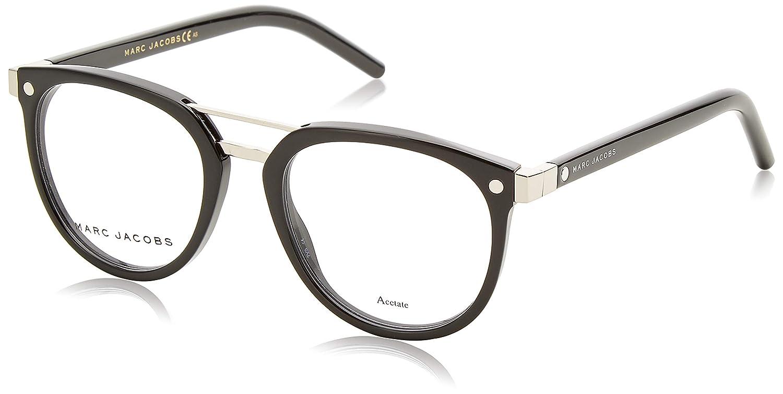 31b663e2de5e Amazon.com: Marc Jacobs Marc 19 0807 Black Eyeglasses: Clothing
