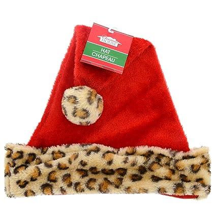 5d23a9edc55b0 Amazon.com  Christmas House Leopard Santa Hat  Toys   Games