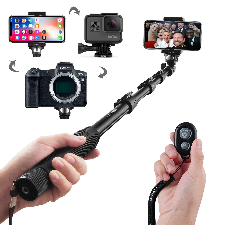 Arespark Selfie Palo, Profesional Ajustable Auto-Bloqueo ...