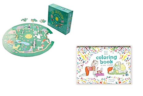 Amazon.com: YOGi FUN Bundle Yoga Round Puzzle & Yoga Book ...