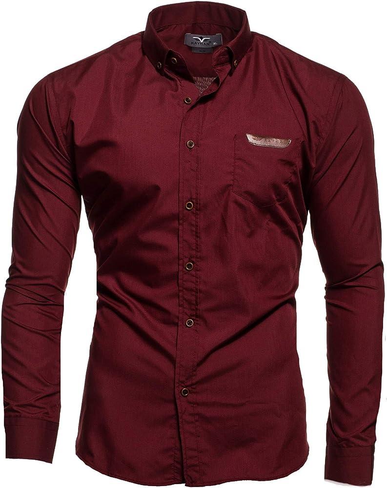 Kayhan Hombre Camisa, Arizona Wine (M): Amazon.es: Ropa y accesorios