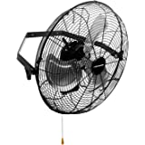KEN BROWN 18 Inch High Velocity Industrial Wall Fan 4012CFM 3 Speed for Industrial, Commercial, Residential, and Shop…