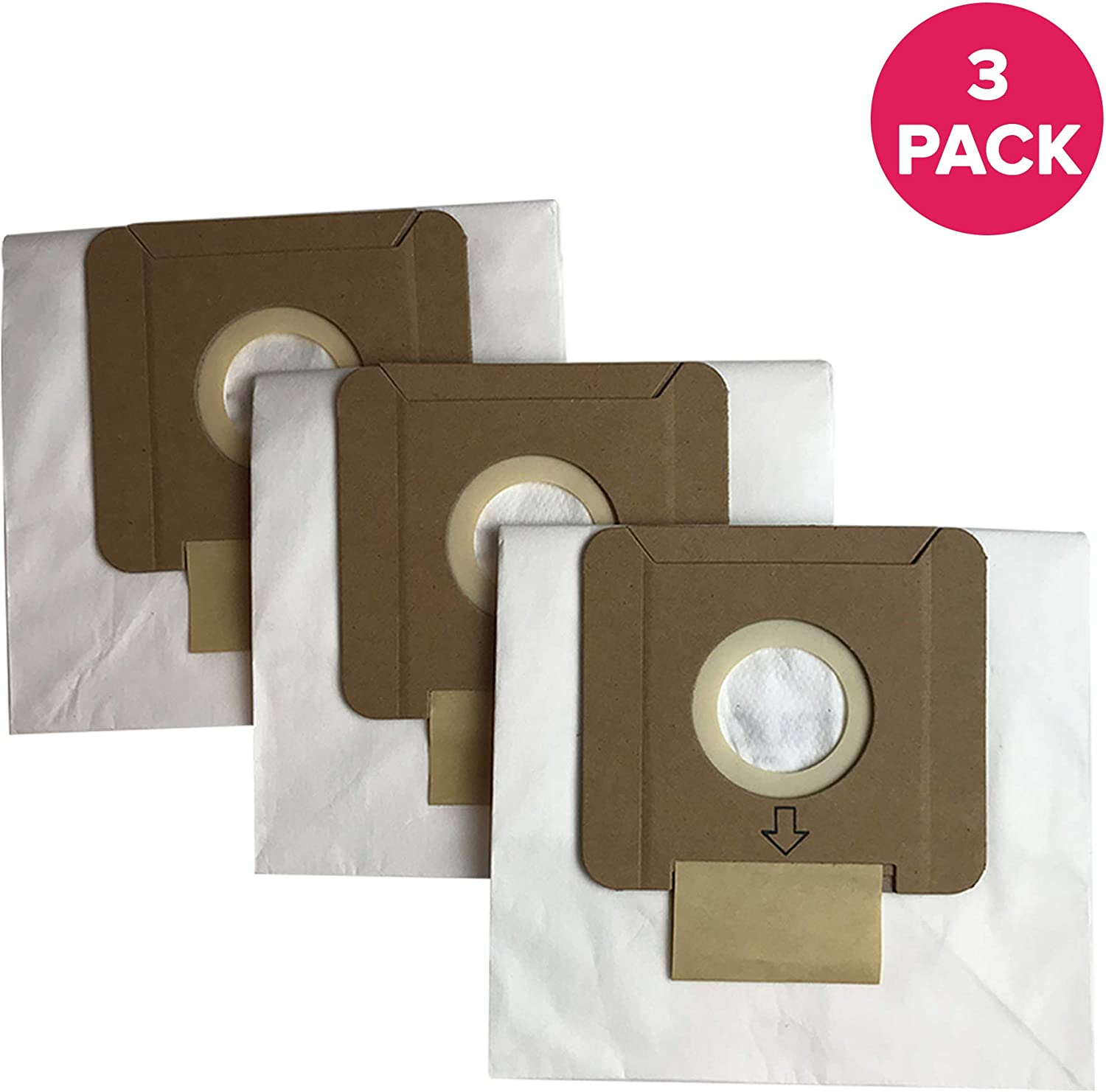 Crucial Vacuum Replacement Vacuum Bags Compatible with Dirt Devil Part # AD10030,3-04235-00,304235001,83-2450-06 & Models Type O,SD30040BR,SD30040CDI,SD30040BB,SD30040CBT,SD30040CS (3 Pack)