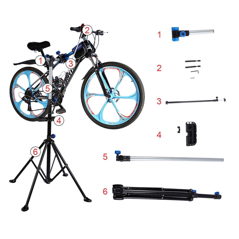 GOTOTOP Supporto Cavalletto Bici Stand Bicicletta per Montaggio Bicicletta Expert,Stand per Riparazione//Manutenzione Bicicletta