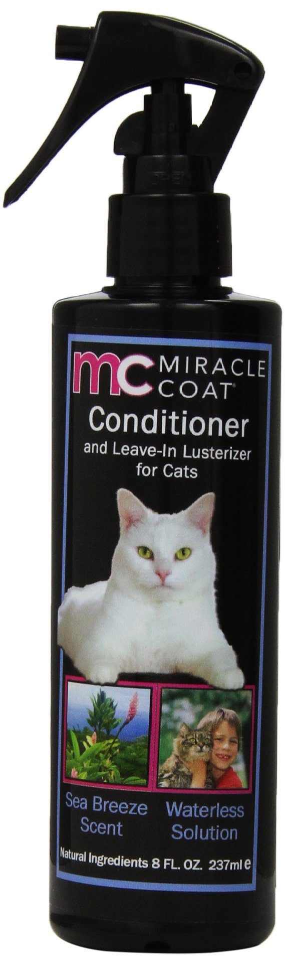 Miracle Coat Leave-in Conditioner & Lusterizer for Cats 8 oz.