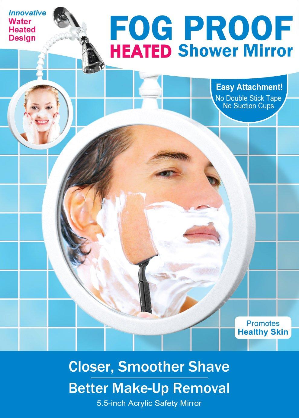Amazon.com: ShowerTek WV2 Fog Proof Shower Mirror For Best Shaving And  Make Up Removal: Home Improvement