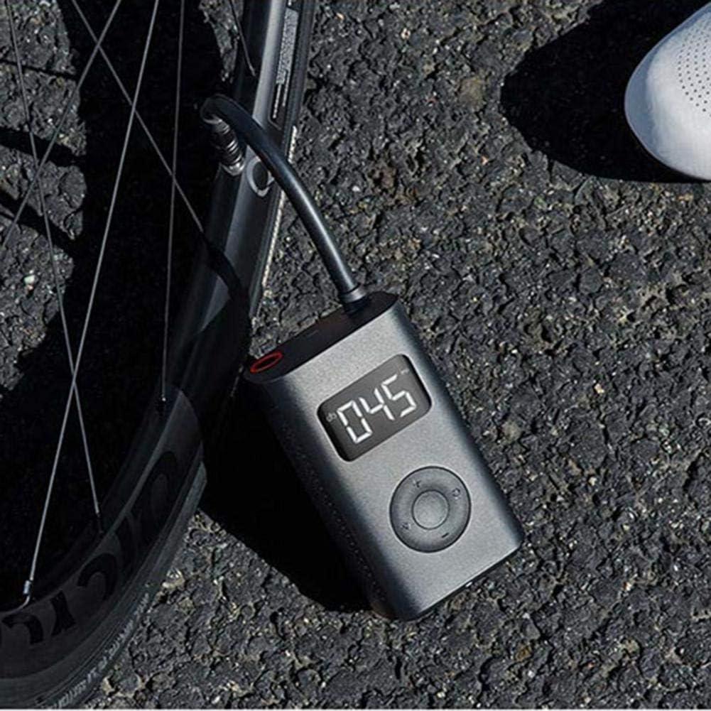 Compressore Aria Portatile Auto Mini Pompa Elettrica Pompa Di Gonfiaggio Elettrica Smart Portable Digital Detection Pressure Tire Per Xiaomi Bike Moto Auto Calcio 124x71x45.3mm