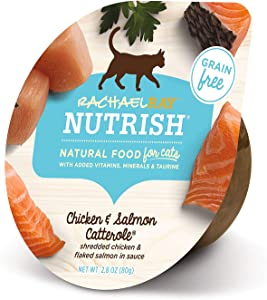 Rachael Ray Nutrish Natural Wet Cat Food, Chicken & Salmon Catterole Recipe, 2.8 Ounce Cup (Pack of 24), Grain Free