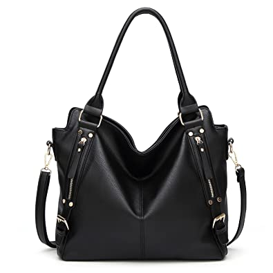 71aba6c4cfbb Amazon.com  NOTAG Tote Handbags PU Leather Shoulder Bags Fashion Hobo  Handbag Top Handle Purse Casual Messenger Crossbody Bag with Removable  Shoulder Strap ...
