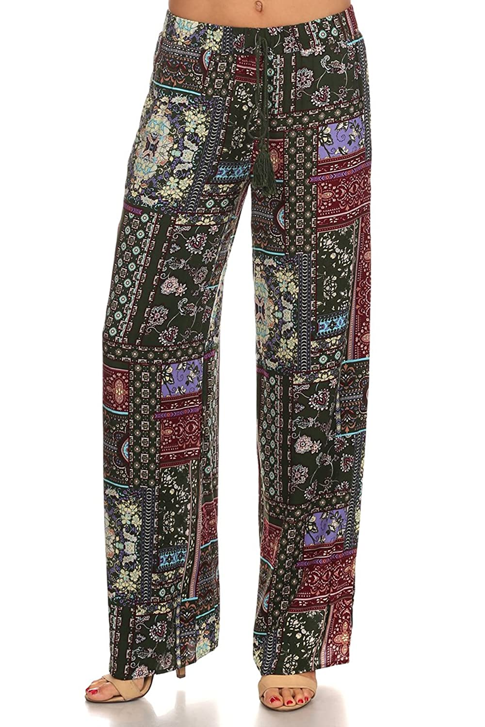 MeshMe Womens Sonya - Tribal Printed Palazzo Pants