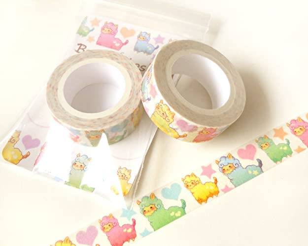 photograph regarding Planner Supplies known as : Alpaca Washi Tape. Planner Decoration. Kawaii