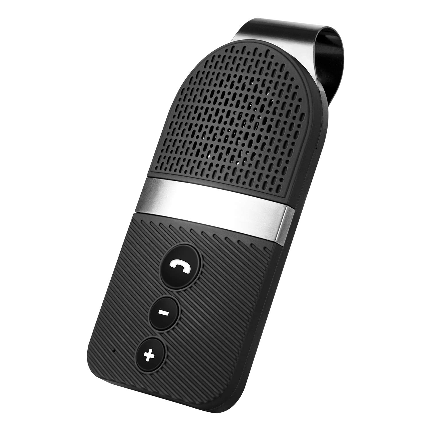 Slopehill Bluetooth Car Speaker for Cellphone, Wireless Handsfree Bluetooth Car Speakerphone with Clear Sound for Safely Talking, Driving and Music Streaming, Rechargeable, Visor Clip, Dual 2W Speaker by Slopehill