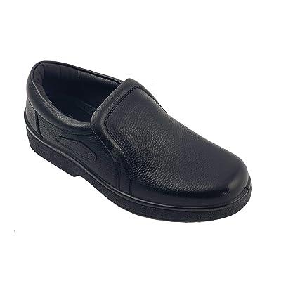 Labo Pro Reactive Men's Upper Leather Oil Resistant, Slip Resistant Kitchen Shoes-Slip on and Lace Up | Shoes