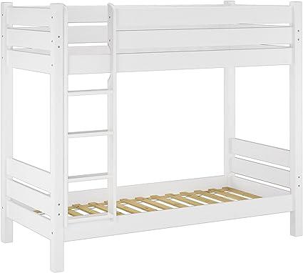 box letto Letto a castello per bambini struttura letto con una scala pino,White