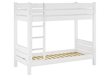 Etagenbetten Für Erwachsene Günstig : Erst holz® 60.16 10 w etagenbett für erwachsene weiß 100x200 cm
