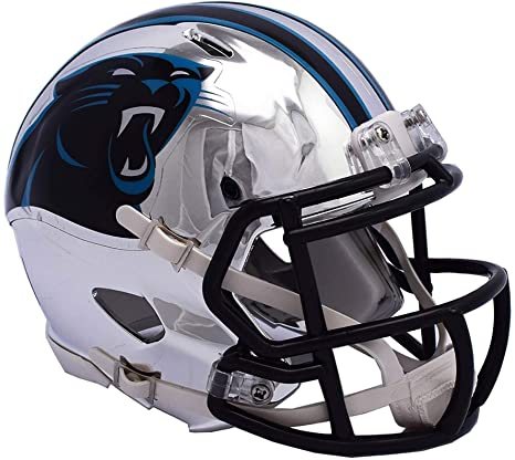38bfaf3a388f8 Image Unavailable. Image not available for. Color  Sports Memorabilia Riddell  Carolina Panthers Chrome Alternate Speed Mini Football Helmet ...