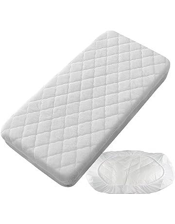 PEKITAS Protector Colchón/Cubre colchón Impermeable Acolchado - Minicuna 50 X 80 cm Fabricado En
