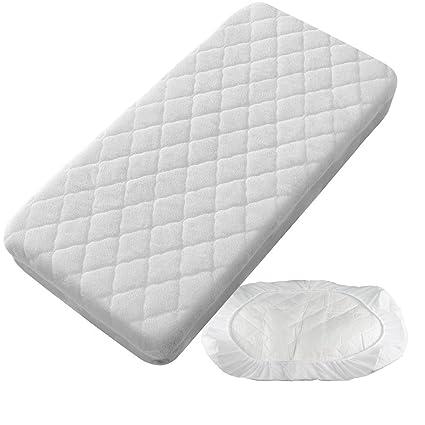PEKITAS Protector Colchón/Cubre colchón Impermeable Acolchado - Cuna 60 X 120 cm Fabricado En