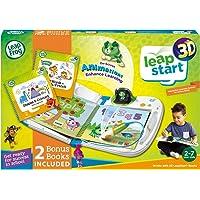 LeapFrog LeapStart 3D with 2 Bonus Books Bundle - Electronic Educational Reading System, 3D animations - Green - 603983