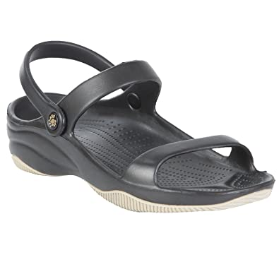 c7ef525dea980 DAWGS Women s Premium 3-Strap Sandals - Black with Tan