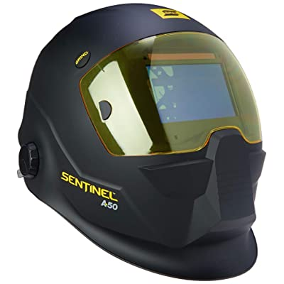 ESAB 0700000800 Sentinel A50 Welding Helmet, Black, 3.93 x 2.36 in. (100 x 60 mm) Viewing Area.: Industrial & Scientific