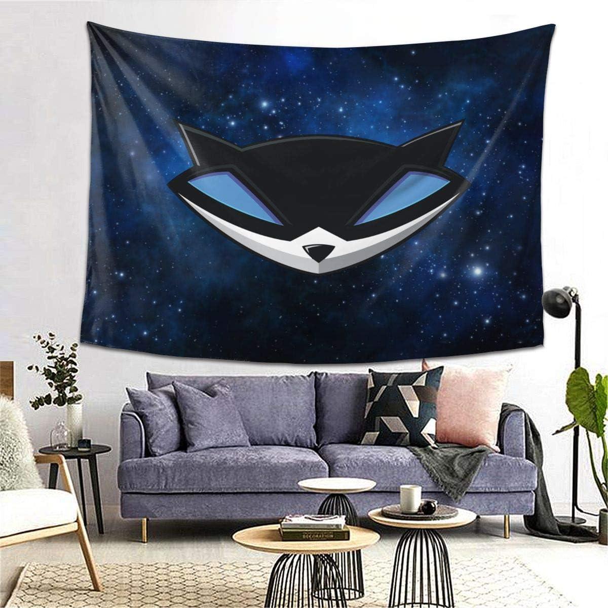 Winsle Modern Art Tapestry Sly Cooper Logo Home Decor Wall Hanging for Living Room Bedroom Dorm 80 x 60inch