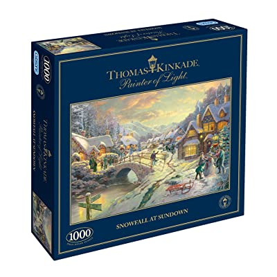 Gibsons Snowfall at Sundown Jigsaw Puzzle (1000 Piece): Toys & Games