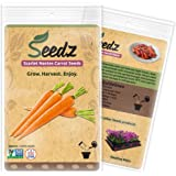 CERTIFIED ORGANIC SEEDS (Approx. 1,550) - Organic Carrot Seeds - Heirloom Quality - Non GMO, Non Hybrid Seeds - USA
