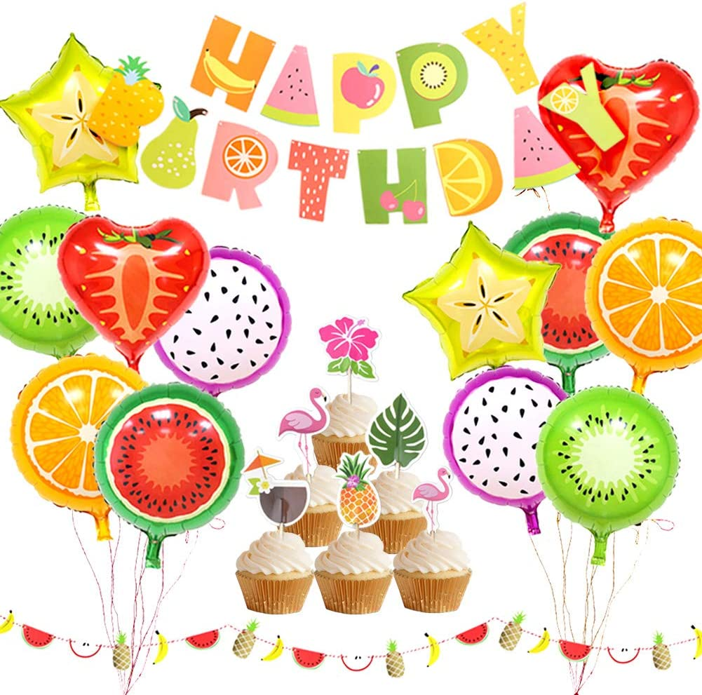 Amazon Com Tutti Frutti Party Decorations Fruit Happy Birthday