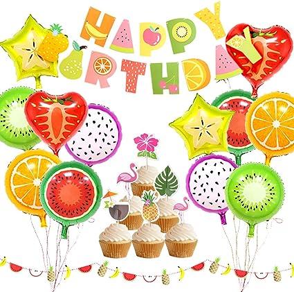 Amazon.com: KREATWOW Tutti Frutti decoración de fiesta ...